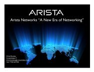 """Arista Networks """"A New Era of Networking"""""""