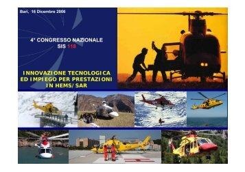 innovazione tecnologica ed impiego per prestazioni in hems/sar 4 ...