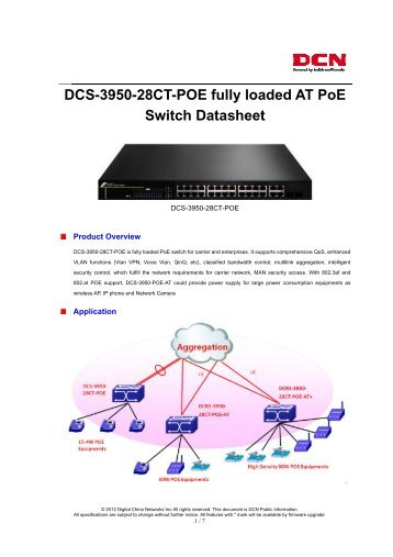 D DCS-3 3950-2 28CT-P Switc POE f ch Da fully l atashe ... - DCN