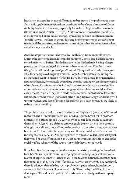 Making Migration Work - Wetenschappelijke Raad voor het ...