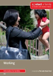 Working - Contact a Family