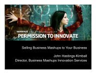 Selling Business Mashups to Your Business John ... - Serena Software