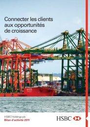 Bilan d'activité 2011 - HSBC