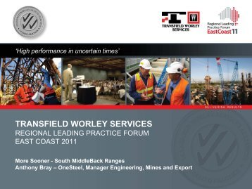 Get the basics right - Transfield Worley