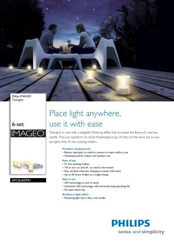 6912660PH Philips TeaLights - LED Lighting from LEDVISTA
