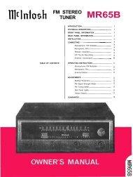 McIntosh MR-65B stereo tuner - AllegroSound