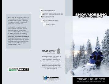 snowmobiling - Tread Lightly