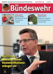 Minister räumt Kommunikations- mängel ein - DBwV