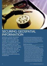 SECURING GEOSPATIAL INFORMATION - Edina