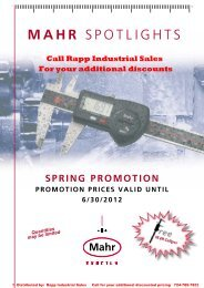 Mahr SPOTLIghTS - Rapp Industrial Sales