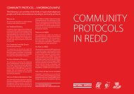 Community Protocols in REDD - Natural Justice