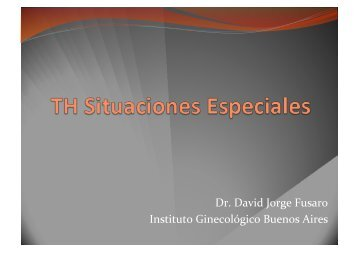 TH en pacientes con antecedentes de Endometriosis - IGBA