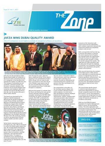 JAFZA WINS DUBAI QUALITY AWARD - Jebel Ali Free Zone
