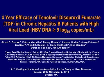(TDF) in Chronic Hepatitis B Patients with High Viral Load