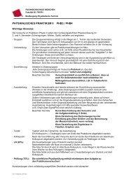 PHYSIKALISCHES PRAKTIKUM II PHB3 / PHB4