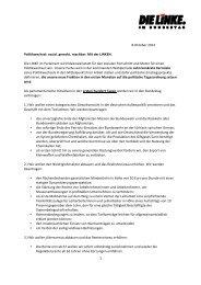 DIE LINKE. im Bundestag - 100-Tage-Programm
