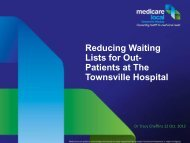 Reducing Waiting Lists for Out- Patients at The Townsville ...