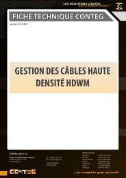 GESTION DES CÂBLES HAUTE DENSITÉ HDWM - Conteg