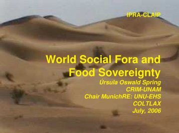 (Microsoft PowerPoint - Vortrag 27, WSF and Food Sovereignty.ppt ...