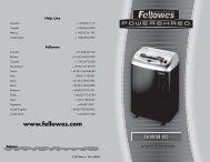 Fellowes - Financial Equipment Company