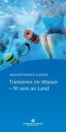 Kurse im Überblick! Broschüre downloaden - Schinkelbad