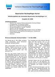 Ausgabe III 2006 - Verband Bayer. Rechtspfleger e.V.