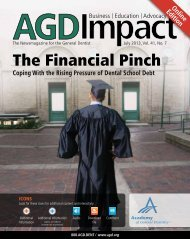 The Financial Pinch - Academy of General Dentistry