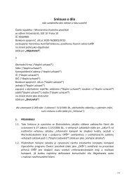 Příloha č. 2 Závazný návrh smlouvy o dílo