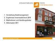 2. Ergebnisse Innenstadtcheck - Stadtmanagement Oranienburg 2020