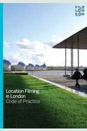 Location Filming in London Code of Practice - Film London