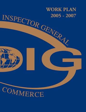 2005-2007 OIG Work Plan - Office of Inspector General - Department ...