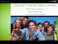 Teaching & Training Today's Learners