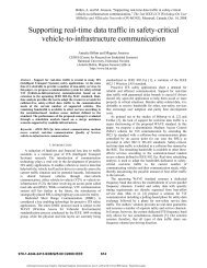Supporting real-time data traffic in safety-critical vehicle-to ...