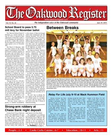 Between Breaks - the Oakwood Register