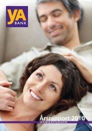 Årsrapport 2010 - yA Bank