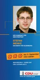Flyer zum Download - CDU Oldenburg