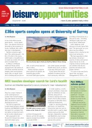Leisure Opportunities 4th May 2010 ISSUE 527