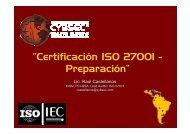 """""""Certificación ISO 27001 - Preparación"""" - Cybsec"""