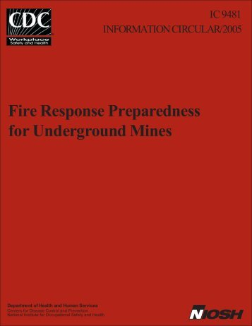 Fire Response Preparedness for Underground Mines - West Virginia ...