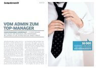 VOM ADMIN ZUM TOP-MANAGER
