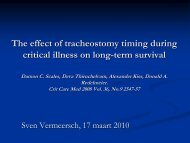 The effect of tracheostomy timing during critical illness on long ... - ICU