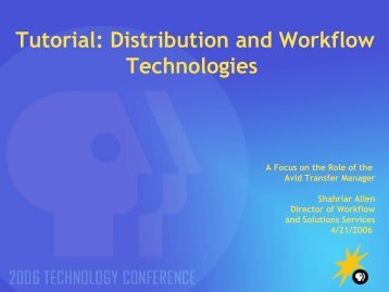 Tutorial: New Distribution and Workflow Technologies - PBS