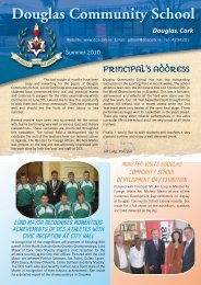 DCS Newsletter Summer 2010 - Douglas Community School