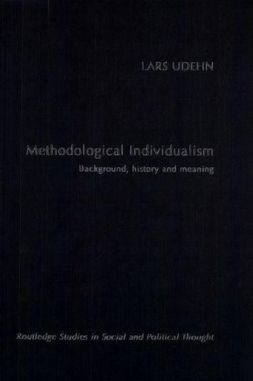 Methodological Individualism