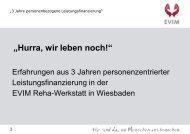 Die EVIM Reha-Werkstatt - Werkstätten:Messe