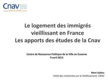 Le logement des immigrés vieillissant en France. Les ... - crpve