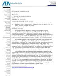Letter dated April 30 2012 from ABA Federal - SecondMarket