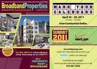 C A L E N D A R S M A R K Y O U R - Broadband Properties