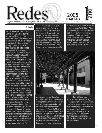 Año 1, núm. 6, mayo-junio de 2005 - Regresar a la página principal ...