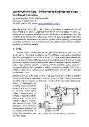 Zemní výměník tepla – vyhodnocení měřených dat ... - Pavel Kopecký